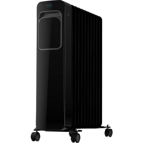 Radiador eléctrico de aceite readywarm 11000 touch black, 11 elementos, potencia 2500w en 3 niveles, pantalla lcd, control tácti
