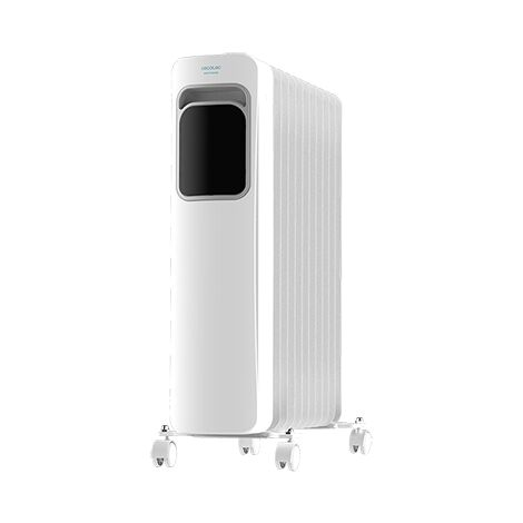Radiador eléctrico de aceite readywarm 11000 touch connected, bajo consumo, 11 elementos, potencia 2500w en 3 niveles, control p