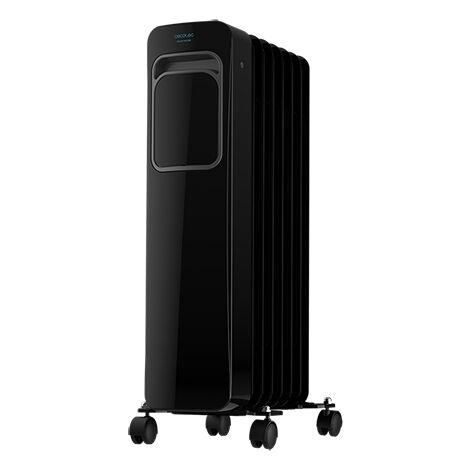 Radiador eléctrico de aceite readywarm 7000 touch black, bajo consumo, 7 elementos con 1500w, 3 modos de funcionamiento, pantall