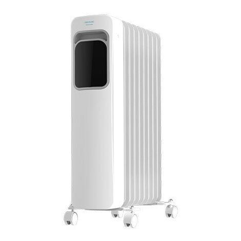 Radiador eléctrico de aceite readywarm 9000 touch, bajo consumo, 9 elementos, potencia 2000w en 3 niveles, pantalla lcd, control