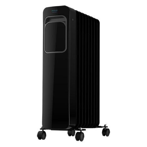 Radiador eléctrico de aceite readywarm 9000 touch black, bajo consumo, 9 elementos, potencia 2000w con 3 niveles, pantalla lcd,