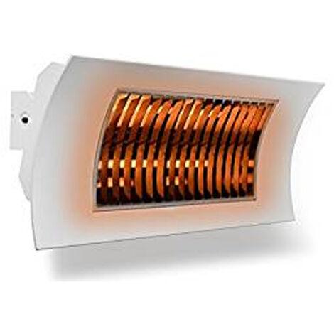 Radiador INFRARROJOS Farho OASI BLANCO • Calefactor de exteriores • Potencia 1000 W ó 2000 W