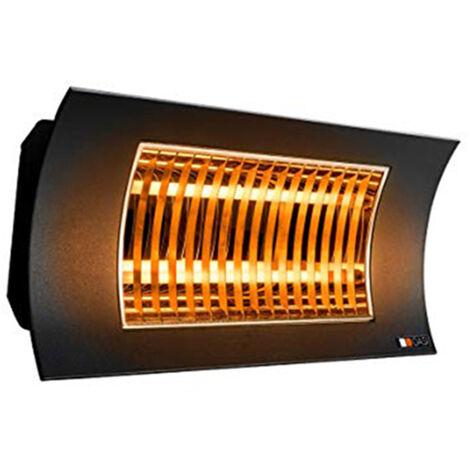 Radiador INFRARROJOS Farho OASI NEGRO • Calefactor de exteriores • Potencia 1000 W ó 2000 W