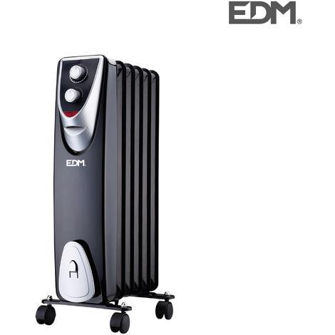 "RaDiador modelo ""blacK edition"" - sin aceite - (6 elementos) - 1000W - EDM"