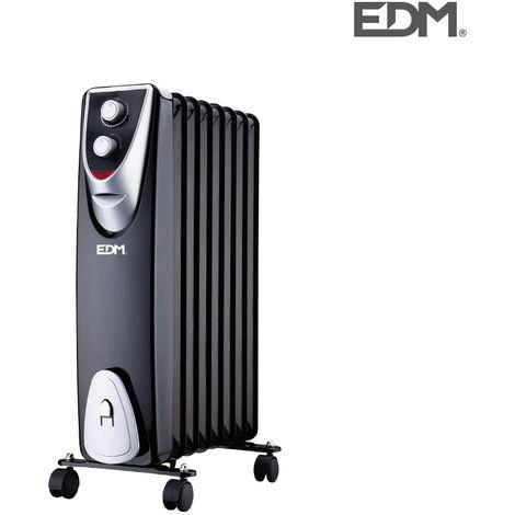 "RaDiador modelo ""blacK edition"" - sin aceite - (8 elementos) - 1500W - EDM"
