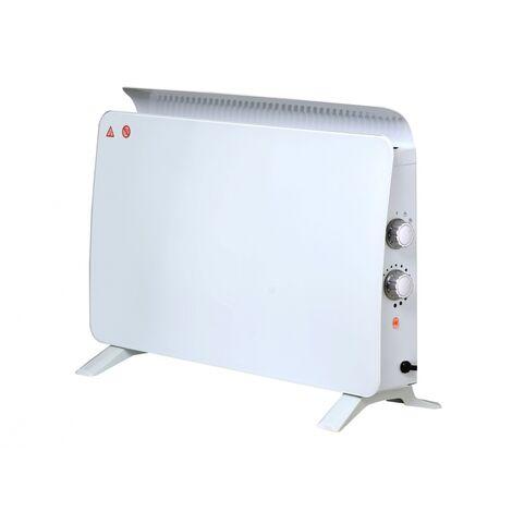 Radiador panel cristal templado de pared o suelo 750 W / 1500 W ZAFIR H1500N W
