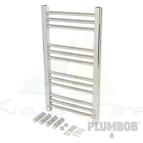 Radiador para toallas plano y cromado (Plumbob-644775)