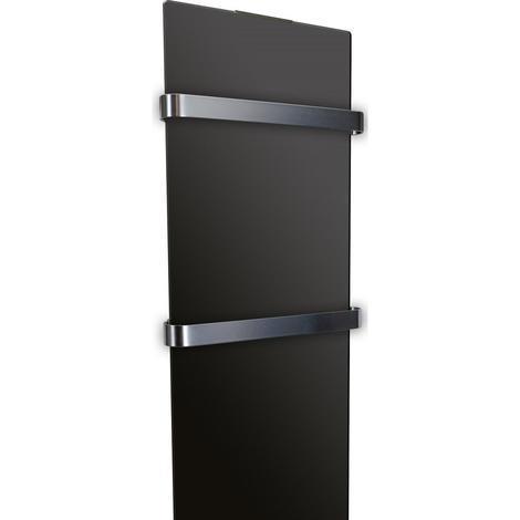 Radiador secatoallas de 1200 W color negro