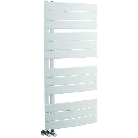 Radiador Toallero Curvo - Blanco - 1080mm x 550mm x 115mm - 500 Vatios - Elgin