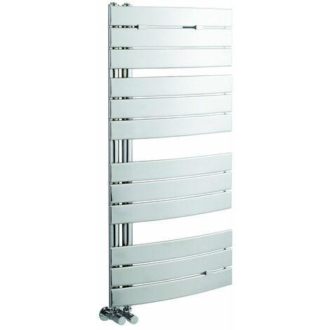 Radiador Toallero Curvo - Cromado - 1080mm x 550mm x 115mm - 336 Vatios - Elgin