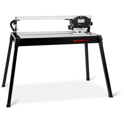 620 mm elektrische Fliesenschneidemaschine mit Laser (stufenlos schwenkbar bis 45°, 36 mm Schnitttiefe, Winkelanschlag, Diamanttrennscheibe) Fliesenschneider Nassschneider Schneidemaschine