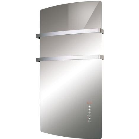 "main image of ""Radialight Deva Glass Electric Bathroom Fan Heater with Towel Bars"""