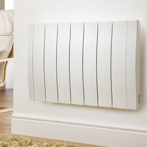 Radiateur 800W bloc en fonte d'aluminium à chaleur douce sèche HAVERLAND - Blanc