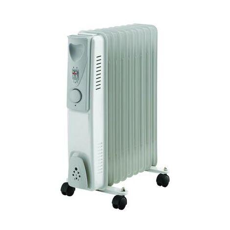 Radiateur à bain d'huile 1500W - 3 positions de chauffe - Thermostat copie copie