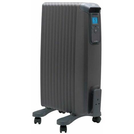 radiateur à bain d'huile 1500w anthracite - evorad15a - ewt