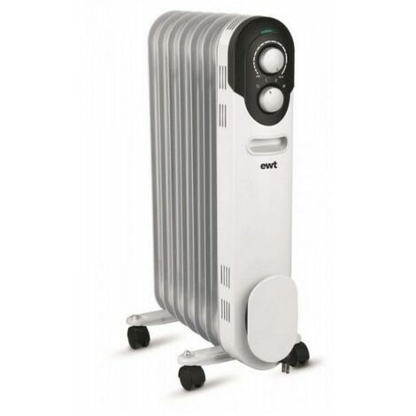 radiateur à bain d'huile 1500w blanc - cocoon15 - ewt