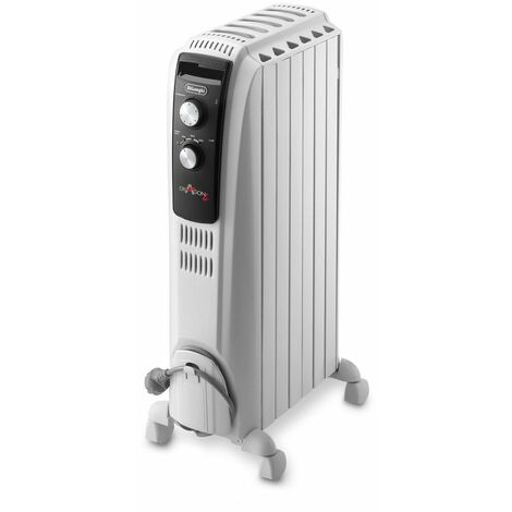 radiateur à bain d'huile 1500w blanc - trd40615 - delonghi