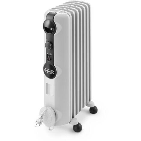 radiateur à bain d'huile 1500w blanc - trrs0715 - delonghi