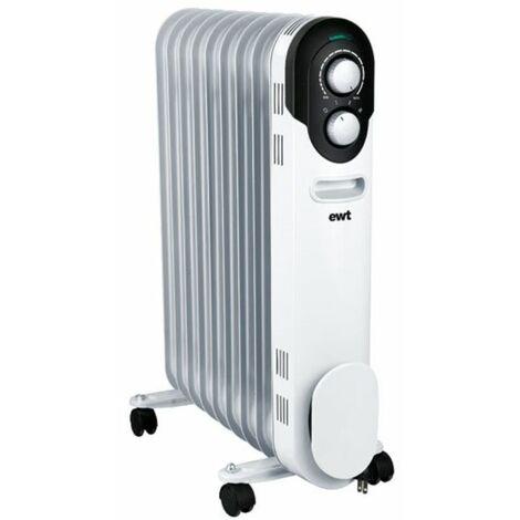radiateur à bain d'huile 2000w blanc - cocoon20 - ewt