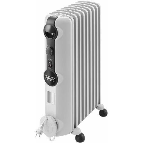 radiateur à bain d'huile 2000w blanc - trrs0920 - delonghi