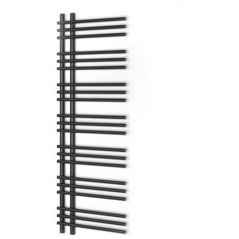 Radiateur à eau chaude, Sèche serviette Brillo noir/anthracite 50x150cm