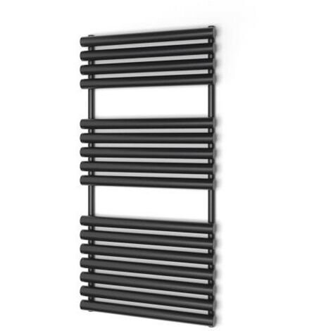 Radiateur à eau chaude, Sèche serviette Puerta noir/ anthracite 600x1200mm