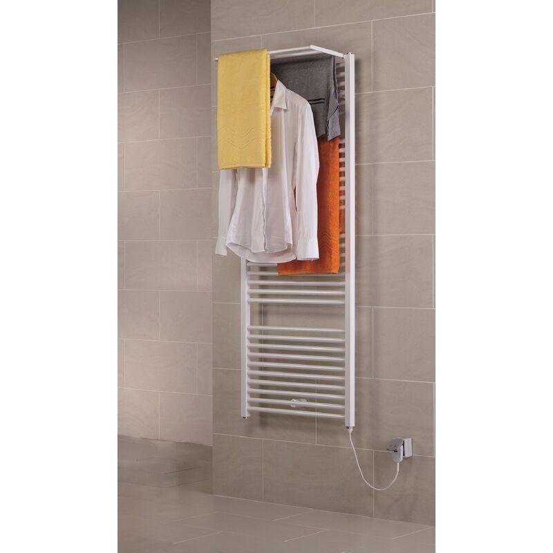 env blanc Schulte 4061554000317 S/èche-serviette pour salle de bain radiateur /à eau chaude 50 x 70 cm 300 W