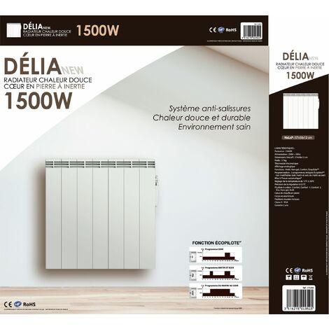 radiateur inertie c ramique 1500w cayenne 49545. Black Bedroom Furniture Sets. Home Design Ideas