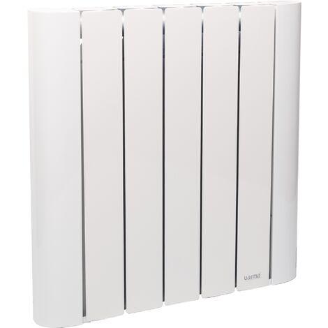 Radiateur à inertie céramique Varma - Corps aluminium - 900 W - Blanc