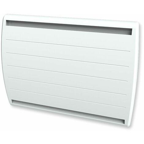 Cayenne radiateur à interie double coeur fonte + film 1500W galbé LCD - Blanc