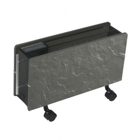 Radiateur à inertie OPTIMUS Ardoise Noire 1600W - Valderoma PA1600O