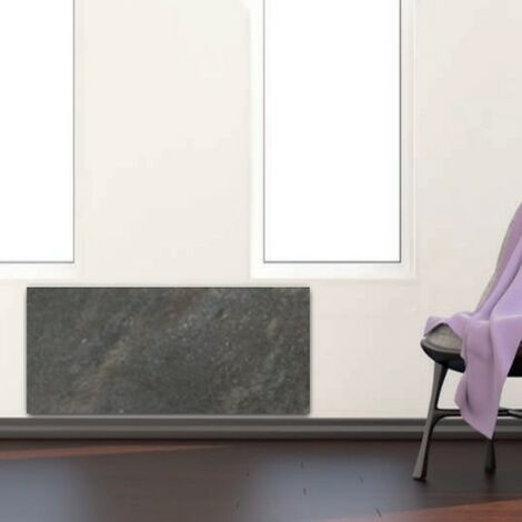 Radiateur à inertie PLINTHO Terre Lunaire Valderoma 1500W Plinthe TL1500P