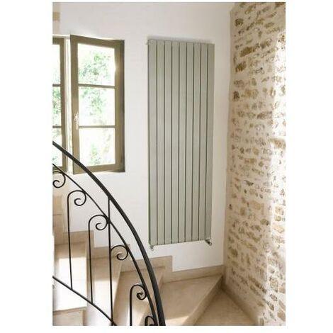 Radiateur ACOVA Fassane Prem's Eau Chaude vertical - Vertical double - Puissance 1800W - H: 2000 - L: 592 - Blanc