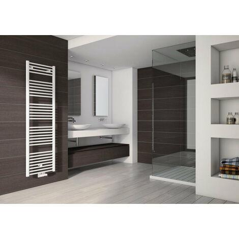 Radiateur ALTERNA seche-serviettes eau chaude Primeo 2 connexion centrale entraxe 50 mm 439 W 944 x 500 mm blanc