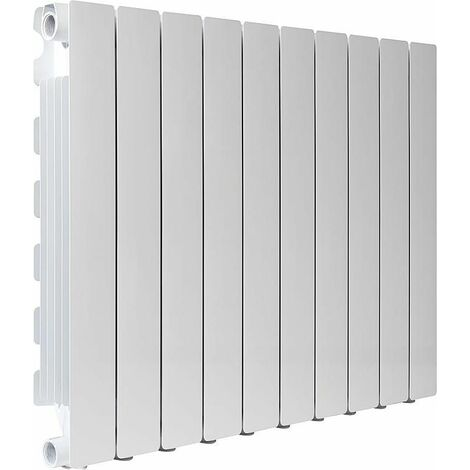 Radiateur aluminium Simun Super B4,600/100-4maillons blanc, RAL 9010