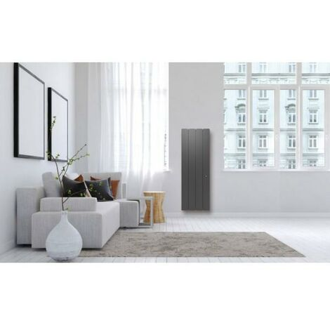 Radiateur Fonte NOIROT - BELLAGIO Smart ECOControl 1000W Vertical Gris Anthracite N1693SEHS