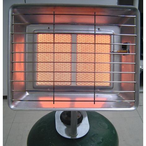 Radiateur Brasero radiant infrarouge Eno - Gris métal