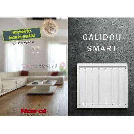 Radiateur chaleur douce à inertie horizontal Calidou Smart Noirot