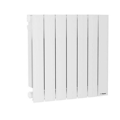 Radiateur chaleur douce Baléares 2 horizontal blanc 1500W (492451)