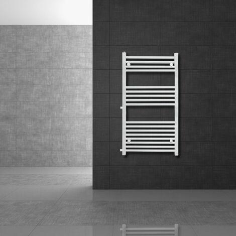 Radiateur chauffage bain remplacement radiateur de rénovation blanc 500 x 120 mm