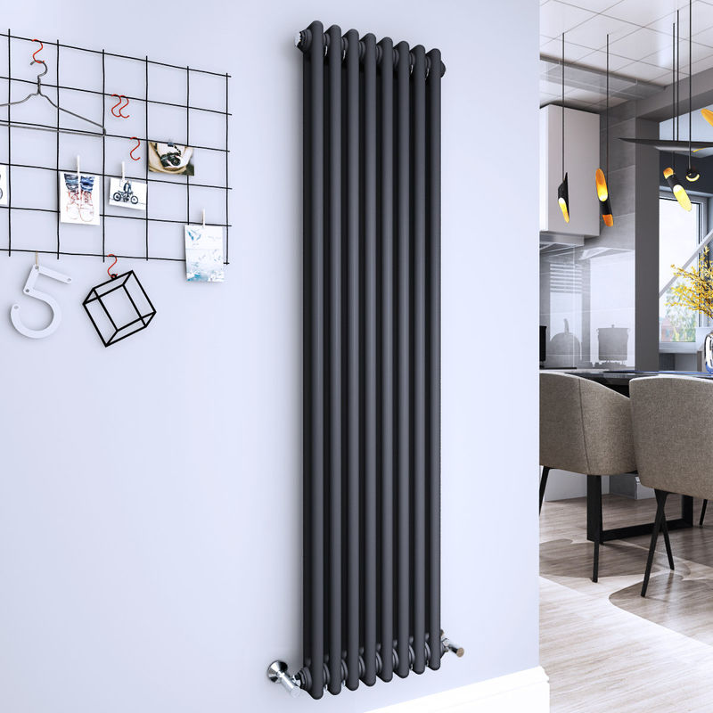 Radiateur Chauffage Central Bern 1013 W 1515 X 380 Mm Gris Anthracite  Double Vertical   130 0435