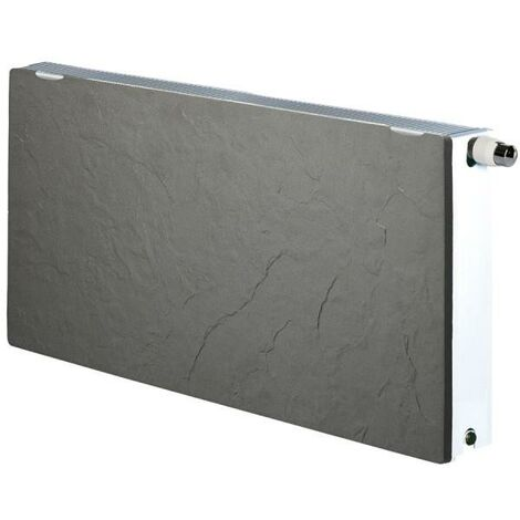 Radiateur chauffage central H2O DK33 Horizontal Ardoise Noire 2176W VALDEROMA 02250033