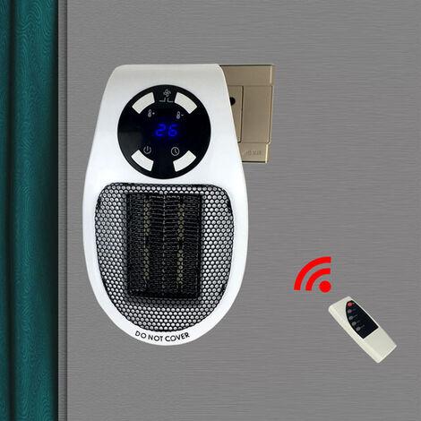 Radiateur Chauffage electrique Mini Air Soufflant Ventilateur Chauffe Puissant 500W Reglable econome pour Salle de Bain Salon Bureau