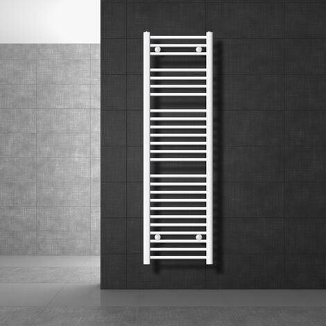 Radiateur chauffage sèche serviettes de bain chrome blanc laterale 400 x 1500 mm