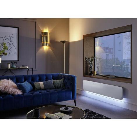 Radiateur connecté Divali Premium plinthe1500W blanc ATLANTIC 507643