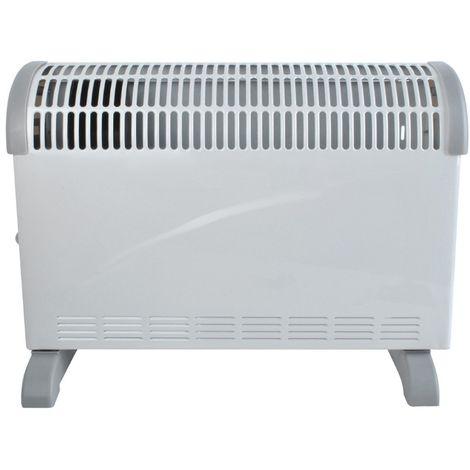 Radiateur convecteur 2000 W soufflerie 3 puissances de chauffe Blanc - Blanc