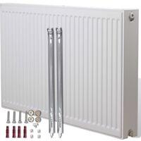 Radiateur Convecteur central horizontal double 120 x 10 x 60 cm Blanc
