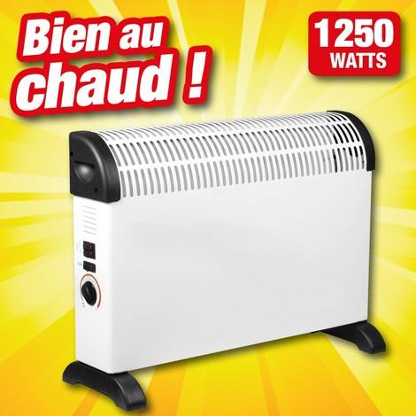 Radiateur convecteur électrique 220/230 volts - 1250w