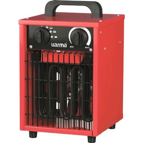 Radiateur de chantier portable Cube Varma - 3000 W - Rouge