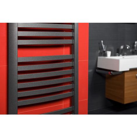 Radiateur de salle de bain à eau chaude Retto GRAPHITE 412X1436mm